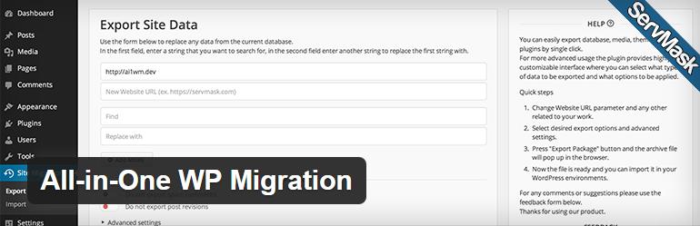 wtyczki-All-in-One WP Migration